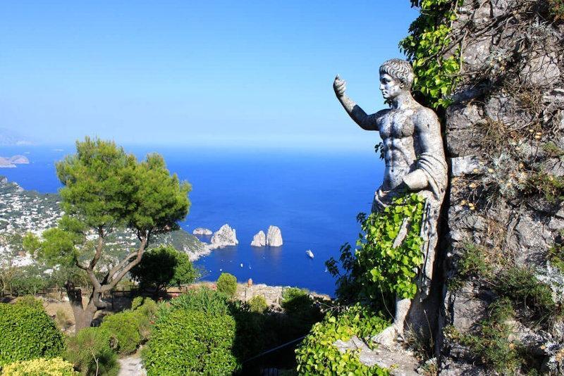 Scorcio panoramico dall Villa Augusteo di Capri