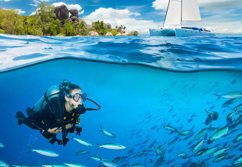 Il diving nel golfo di Napoli