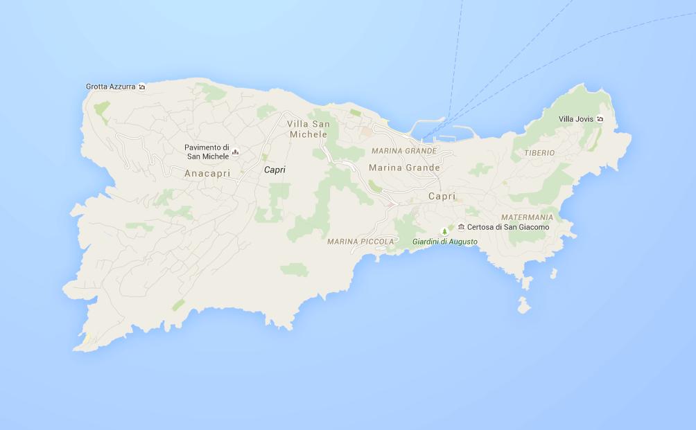 La mappa di Capri
