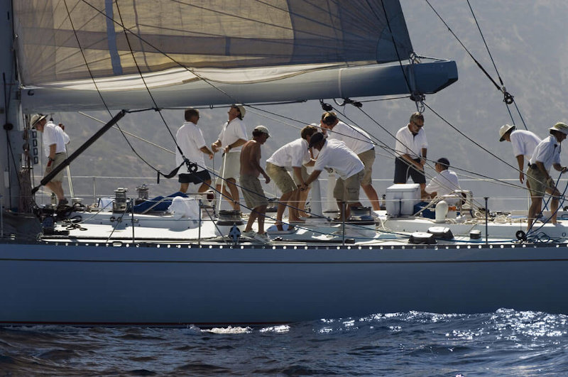 Team Building a Napoli in barca a vela
